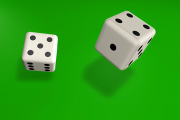 dice on the table