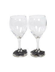Formal wine glasses