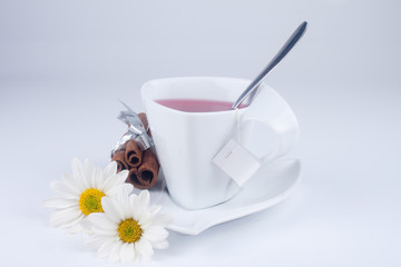 cute cup with flowers
