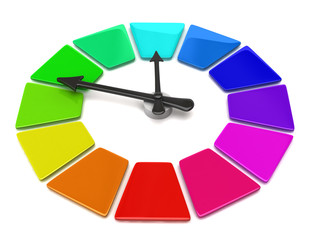 Color Wheel clock
