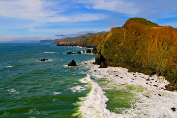 Photo Blinds Sea Marin County Coast, California