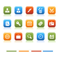 basic color icons, office