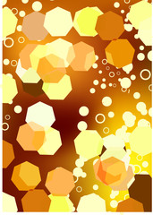 Gold glowing vector background