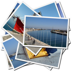postales del puerto de Valencia en España