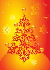 New year tree yellow