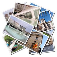 Postales de la ciudad de Valencia en España