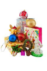 heap of christmas decoratins