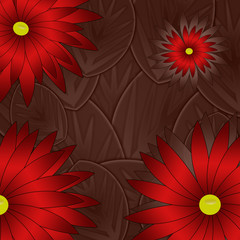 background made of flowers