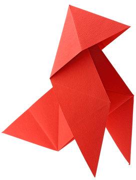 cocotte papier canson rouge fond blanc