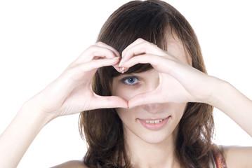 Heart round eyes