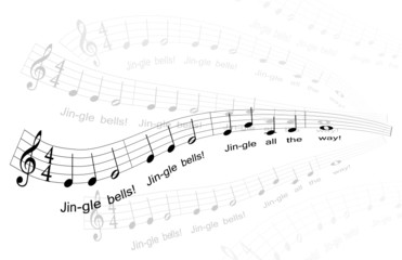 """Jingle Bells"" Sheet Music (excerpt)"