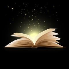 Open book magic - Education concept