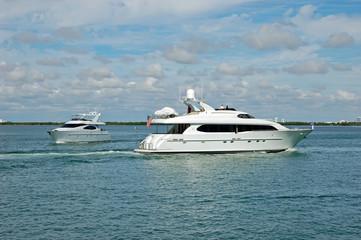 Luxury Yachts on the Florida Intercoastal Waterway