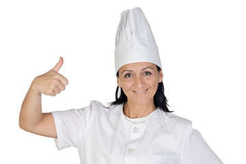 Pretty cook girl accepting