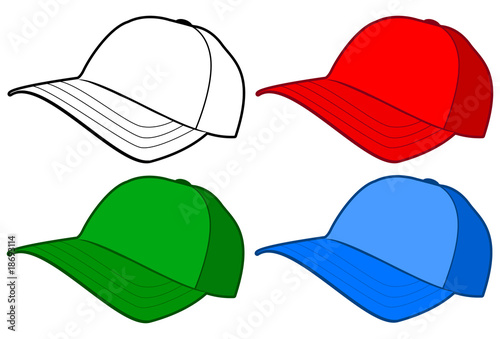 baseball cap or hat vector template design stock image and royalty