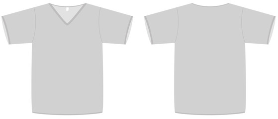 Ladies V-neck T-shirt template vector illustration - Buy this stock ...