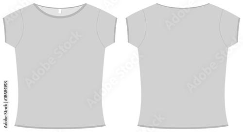 Basic ladies T-shirt template vector illustration\