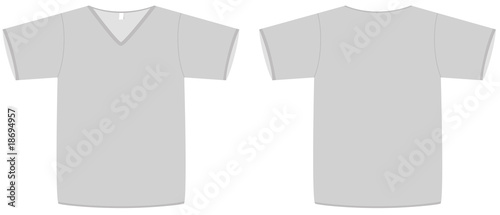 Unisex V Neck T Shirt Template Vector Illustration Stock Image And