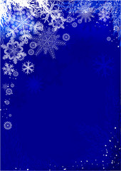 darck blue christmas card