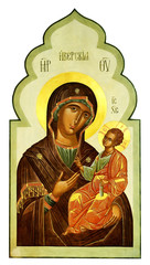 Iberian icon of the Mother of God and Jesus Christ