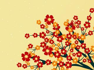 vector illustration of summer tree branch
