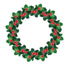 Merry Christmas- Stechpalmenkranz