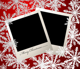 Christmas photo card - vector