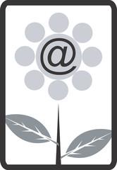 Illustration of a symbol of internet in a flower