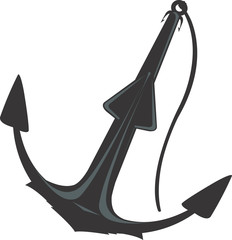 Illustration of a symbol of anchor isolated