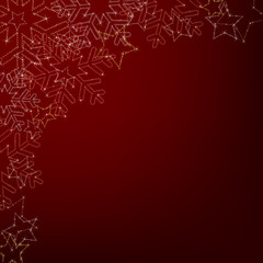 Abstract background from magic stars and snowflakes.
