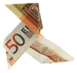 origami cocotte billet cinquante euros fond blanc photo. Black Bedroom Furniture Sets. Home Design Ideas