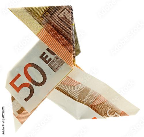 cocotte billet cinquante euros fond blanc photo libre de. Black Bedroom Furniture Sets. Home Design Ideas