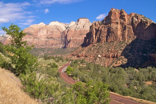 The scenic Zion Mount Carmel Highway, Zion National Park