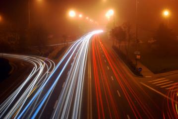 Night lights on highway