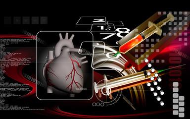 Heart  and syringe