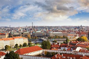 Blick auf Prag mit Moldau