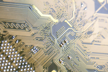 Electronic circuit close-up