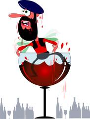 Man and wine