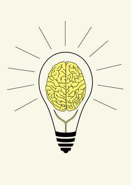 symbol of brain storm