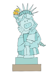 Statue of Liberty pig