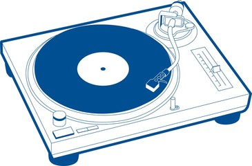 Record Player 1 Blue Record