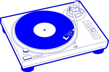 Record Player 1 Royal Blue Record