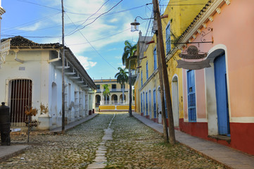 Tropical buildings in Trinidad, cuba