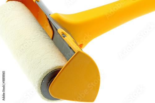rouleau peinture manchon laque anti gouttes fond blanc photo libre de droits sur la banque d. Black Bedroom Furniture Sets. Home Design Ideas