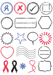 Stamp vector illustration set