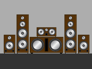 Brown loudspeakers