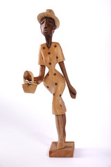statuetta in legno