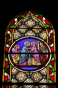 The Visiting (stained glass window)