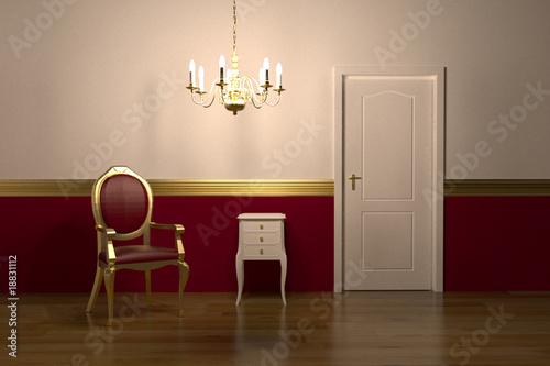 Interior design red gold nightscene stock photo and - Red and gold interior design ...
