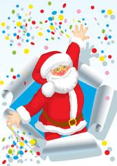 Santa with scrap
